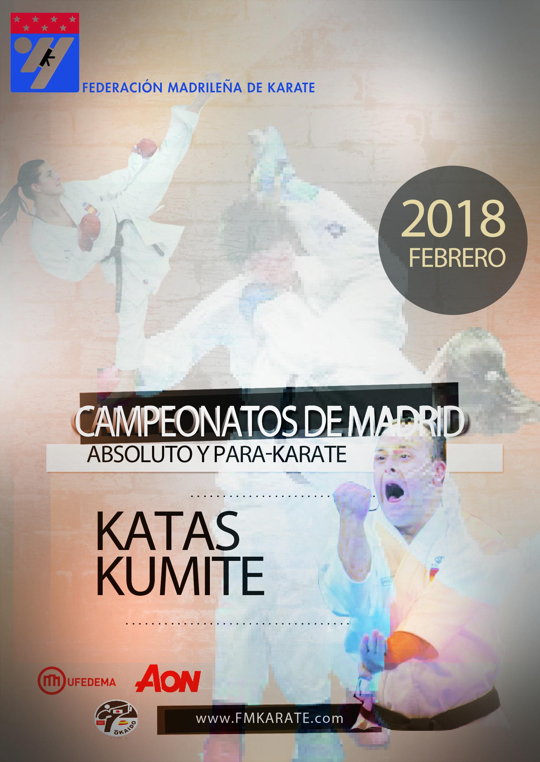 Campeonato de Madrid Sénior y ParaKarate 2018